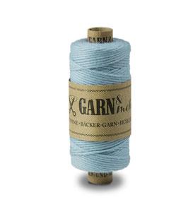 Lanena dekorativna vrvica garn - svetlo modra