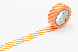 Washi lepilni trak - stripe orange