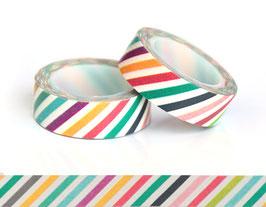 Washi lepilni trak - pastelni poševni vzorec
