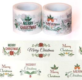 Washi lepilni trak - širok Merry Christmas