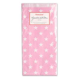 Papirnate vrečice - roza z belimi zvedicami