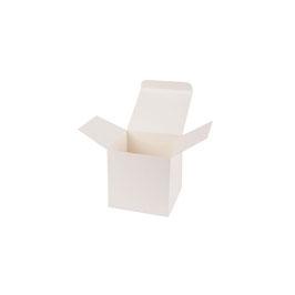 Darilna škatlica - Cube S - v krem beli barvi