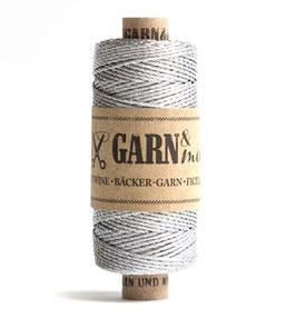 Dekorativna vrvica garn - srebrna (enobarvna)