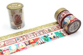 Washi lepilni trak -set - Christmas Set C