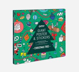 Poster Christmas z nalepkami