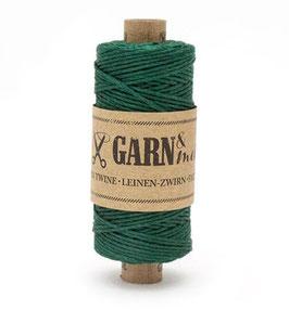 Lanena dekorativna vrvica garn - zelena (smreka)