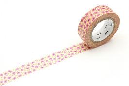 Washi lepilni trak - pink flower