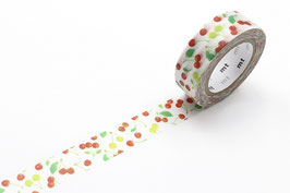 Washi lepilni trak - cherries