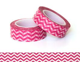 Washi lepilni trak - pink cik cak vzorec
