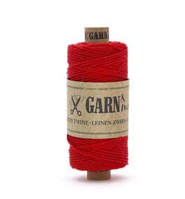 Lanena dekorativna vrvica garn - rdeča