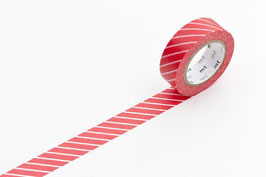Washi lepilni trak - stripe red