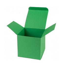Darilna škatlica - Cube M - v zeleni barvi / mint