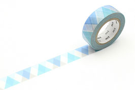 Washi lepilni trak - Triangle and diamond blue