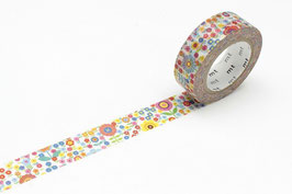 Washi lepilni trak - mini flower garden