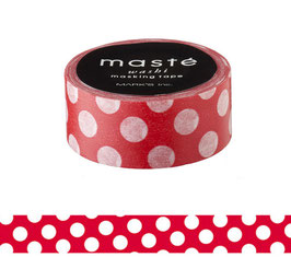 Washi lepilni trak - Red polka dots