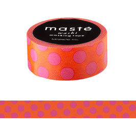Washi lepilni trak - Orange polka dots