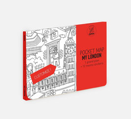 My London - žepni zemljevid - pobarvanka - Londona