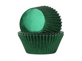 Papirčki za mafine - zeleni s sijajem