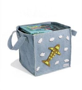 Škatla za igrače z motivom letala