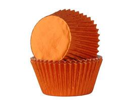 Papirčki za mafine - oranžni s sijajem