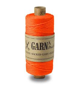 Dekorativna vrvica garn - neonsko oranžna