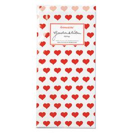 Papirnate vrečice - bele z rdečimi srčki