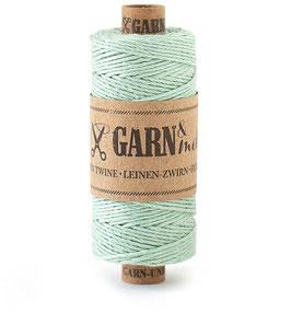 Lanena dekorativna vrvica garn - zelena / žajbelj