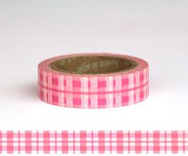 Washi lepilni trak - Tartan Pink