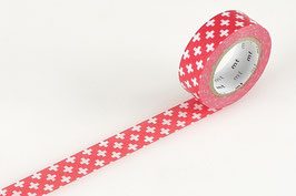 Washi lepilni trak - cross carmine