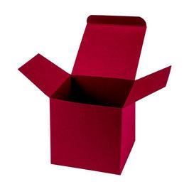 Darilna škatlica - Cube M - v bordo barvi