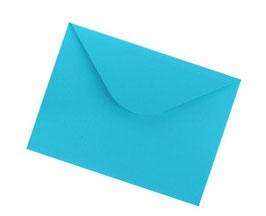Darilna ovojnica dimenzije A4 v turkizno modri barvi