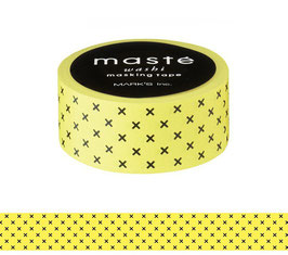 Washi lepilni trak - Yellow - Cross