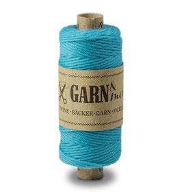 Bombažna dekorativna vrvica garn - enobarvna turkizna