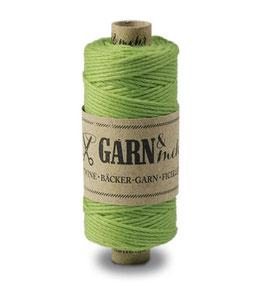 Bombažna dekorativna vrvica garn - enobarvna majsko zelena