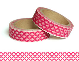 Washi lepilni trak - pink tiles pattern
