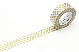 Washi lepilni trak - dot gold 2