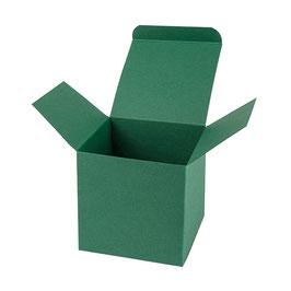 Darilna škatlica - Cube M - v temno zeleni barvi / emerald