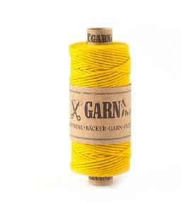 Bombažna dekorativna vrvica garn - rumena (gorčica)