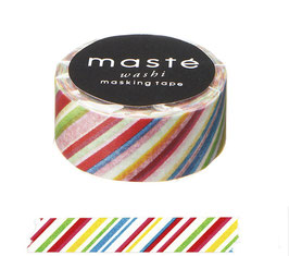 Washi lepilni trak - Colorful Stripe