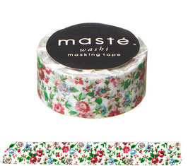 Washi lepilni trak - Flower / White