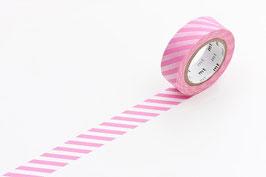 Washi lepilni trak - stripe pink