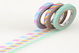 Set washi lepilnih trakov - Slim twist cord A