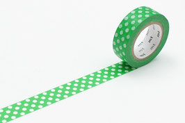 Washi lepilni trak - dot green base