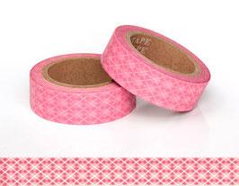 Washi lepilni trak - roza karo
