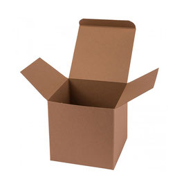 Darilna škatlica - Cube M - v svetlo rjavi barvi