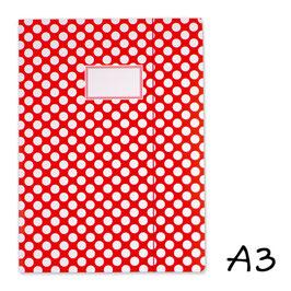 Mapa A3 - rdeča z belimi pikami