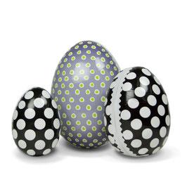 Velikonočna jajčka - pirhi / črna s pikami