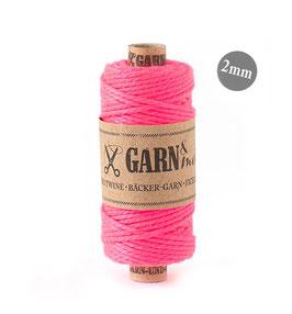Dekorativna vrvica garn - neonsko pink 2 mm