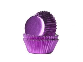 MINI papirčki za mafine - vijolični s sijajem