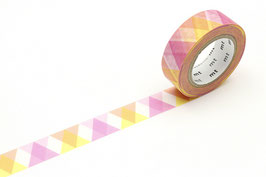 Washi lepilni trak - Triangle and diamond pink